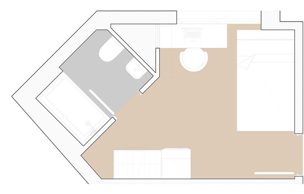 Habitación Individual residencia universitaria en granada
