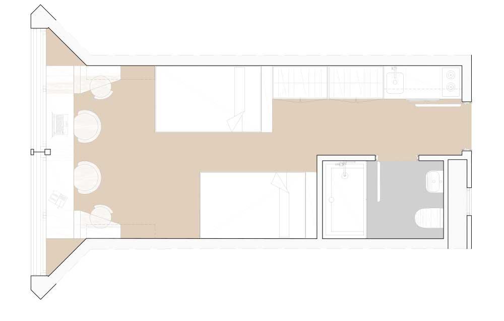 Estudio doble Residencia Universitaria Granada